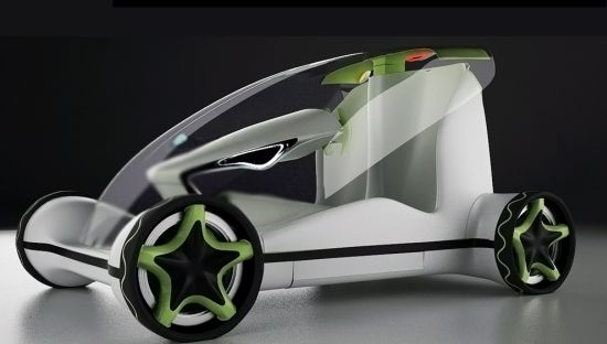 Bionic Concept Car Futuristic Vehicle Design